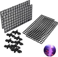 4 Pcs Aquarium Divider Tray Plastic Grid Aquarium Egg Crate Light Diffuser,Black