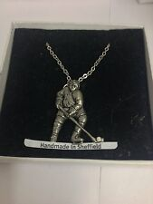 """Hockey sobre hielo PP-SP11 Collar Chapado En Plata Emblema En Platino 18"""""""