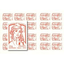 CARNET MARIANNE ROUGE DE CIAPPA 20 TIMBRES