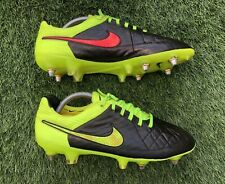Nike Tiempo Legend V SG Pro Football Boots. Size 8.5 UK. Partial Blackout. 🇮🇹