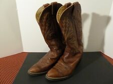 JUSTIN Women's Western Cowboy Boots Brown Leather Style #1560 Size 8D