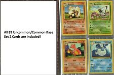 Complete Pokemon Card -  Uncommon/Common - Base Set 2  - NM/Mint - (82 Cards)