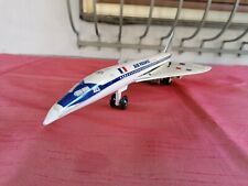 Vintage Concord tin toy airplane by Lyra Greek toy's 70's