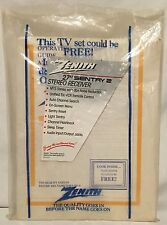 1995 Zenith SENTRY 2 Color TV Manual, Receipts & UA Cablevision Guide Peoria IL