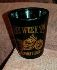 Black Ceramic Shot Glass BIKE WEEK 1999 Daytona Beach, USA