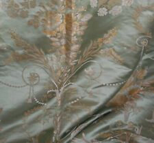 Exquisite Vintage French Silk Brocade Jacquard Fabric ~ 18thc style ~ Green Gold