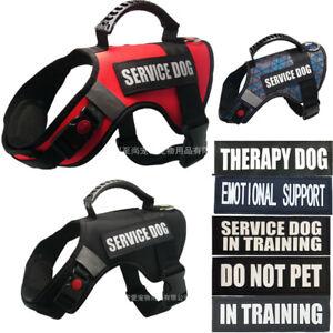Service Dog Harness NoPull Pet Control Reflective Collar Soft Vest Emotional ESA