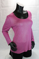 Chico's Women Fuchsia Pink Long sleeves Size One Top Blouse