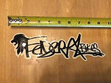 Federal Bikes BMX Decal - Sticker - Black - 9.5""