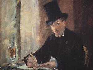 """Edouard Manet - Chez Tortoni (1875) Signed - 17"""" x 22"""" Fine Art Print"""