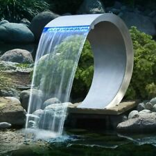 Ubbink RVS Waterval Mamba 54cm + LED waterornament vijverornament