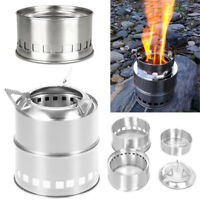 Picnic Camping Wood Burning Stove Outdoor Portable Folding Cookware