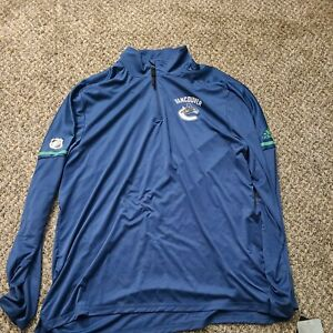 Vancouver Canucks NHL Authentic Adidas Warm Up Mens XL