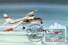 """1985 FFC Aero Maxi Card BN-2 Islander Special Flight Bucharest """"Aviation Day"""""""