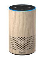 Amazon Echo (2nd Gen) Smart Speaker Alexa Voice Assistant Oak Finish WiFi BT