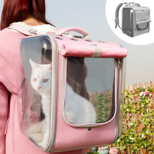 Pink Breathable Cat Carrier Backpack Pet Cat Small Dogs Outdoor Travel Bag Carry