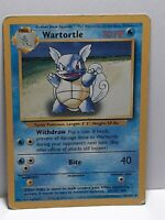 Wartortle 42/102 Base Set Pokemon Card Damaged Uncommon Please See Pictures