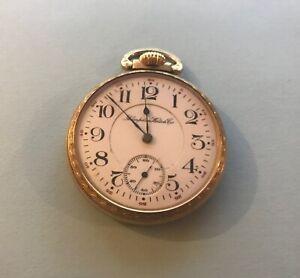 1910 Hampden Pocket Watch *RUNS GREAT* William McKinley Wm. Gold Plate 16s 21j