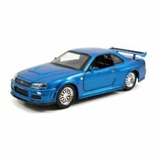 Highly Collectible F&F 2002 Nissan GTR R34 Blue 1:32 Scale Hollywood Ride