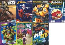 Lot of 7 Coloring Activity Books for Boys - Star Wars, Superhero - Children Kids