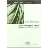 per litteras, Corrado Carini, D'Anna scuola, codice:9788881048564