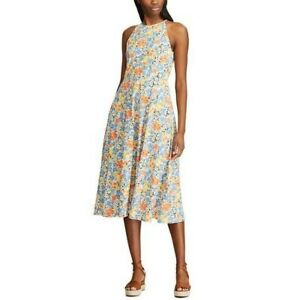 Floral sleeveless sundress Chaps cotton L machine wash cold new