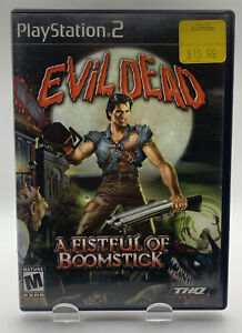Evil Dead Fistful of Boomstick Sony Playstation 2 PS2 No Manual Black Label NTSC