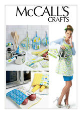McCalls 6479 Apron and Quilted Towels, Bags and Potholders Sewing Pattern, New