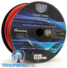 DIRECTED AUDIO 61303 RED 4 GAUGE 100 FOOT SPOOL POWER AMPLIFIER WIRE CABLE NEW