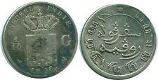 1896 NETHERLANDS EAST INDIES 1/10 GULDEN SILVER Colonial Coin #NL13198.3U