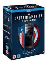 CAPTAIN AMERICA TRILOGY PART 1 2 3 BLU RAY BOX SET MARVEL TRIPLE Original UK Rel