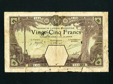 French West Africa:P-7Db,25 Francs,1923 * Grand-Bassam * Rare type *