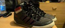 Adidas hardcourt Para Hombres Zapatos Tenis Entrenadores Gris y Rojo Alta UK 8