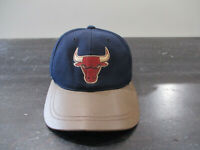 VINTAGE Chicago Bulls Hat Cap Strap Back Blue Brown NBA Basketball Jordan Mens