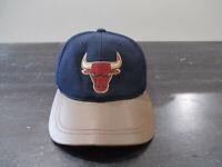 VINTAGE Chicago Bulls Hat Cap Strap Back Blue Brown NBA Basketball Jordan Mens