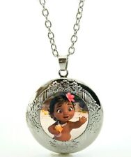 Disney Moana Necklace marbel locket with gift poch Christmas Birthday 872
