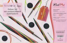 KnitPro GINGER braunes Nadelseil 40-150 cm mit braunen Metallenden