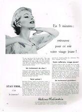 F- Publicité Advertising 1955 Cosmétique crème Helena Rubinstein
