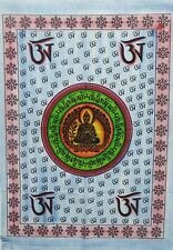 Om Sign Lord Buddha Brush Print Wall Tapestry Poster Hanging Decor Throw Mandala