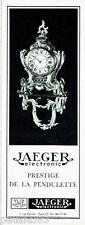 PUBLICITE ADVERTISING 026  1968   Jaeger électronic  prestige de la pendulette