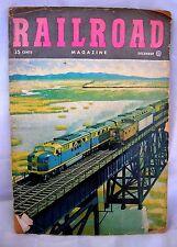 Vintage Railroad Magazine-Dec.1948-