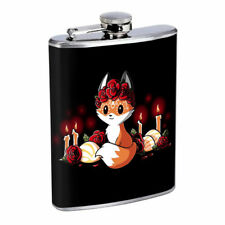 Rose Fox Em1 Flask 8oz Stainless Steel Hip Drinking Whiskey