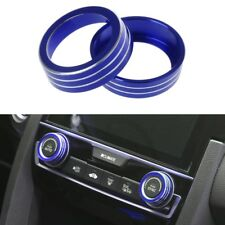 New Blue Aluminum Ring Knob Trim Cover For 2016-2018 Honda Sedan Civic Hatchback
