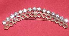 Vintage Art Deco Pin Brooch 1920's / 30s Pot Metal Rhinestone Goldtone Arch
