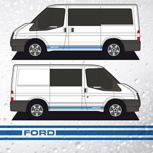Transit Mk7 SWB Side Stripes, Classic FORD GT Style Campervan
