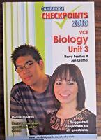 Cambridge Checkpoints VCE Biology Unit 3  Jan & Harry Leather 2010