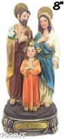 Holy Family Statue Baby Jesus the Virgin Mary and Saint Joseph (8 Inch)New