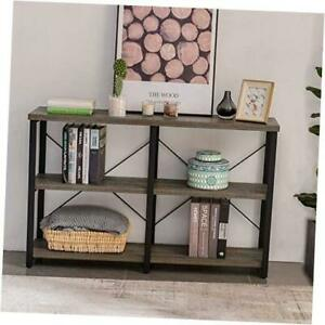 Foyer Tables for Entryway, Rustic Narrow Console Table for 39in Gray Oak