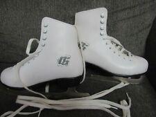 Vguc Ccm Pirouette White Figure Ice Skates w/ Tuv Gs Blades Women's Size 4