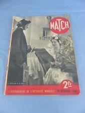 Revue MATCH du 29 décembre 1938 L ' UKRAINE , PASTEUR vaccin , Mein Kampf HITLER